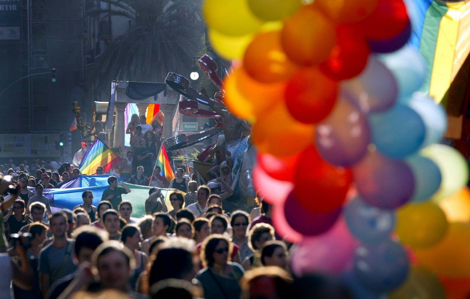 Orgullo LGTB en València en 2002