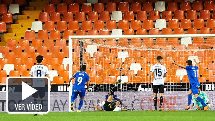 Valencia y Getafe empatan en un final frenético
