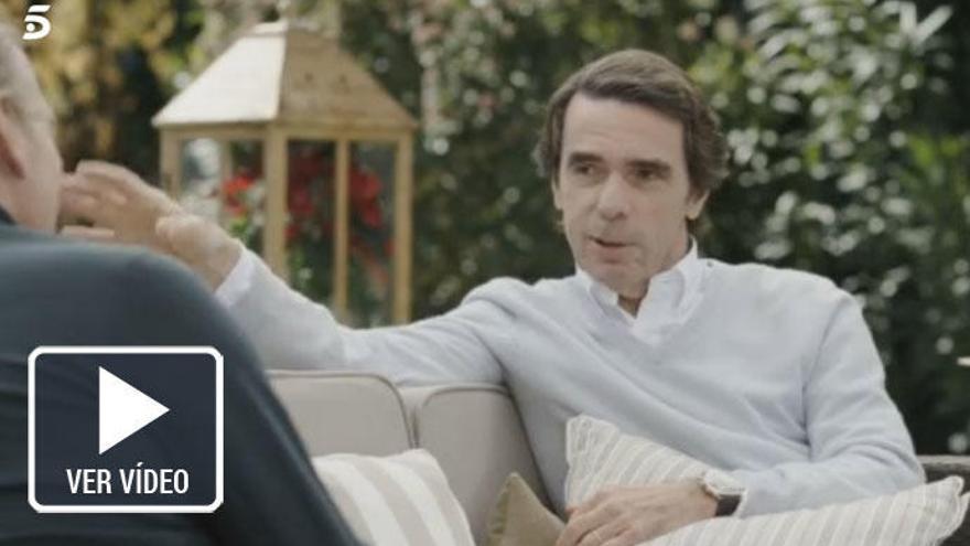 Aznar descubre su lado más desconocido a Bertín Osborne