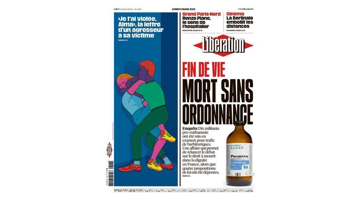 Portada de 'Libération' del 8 de marzo del 2021.