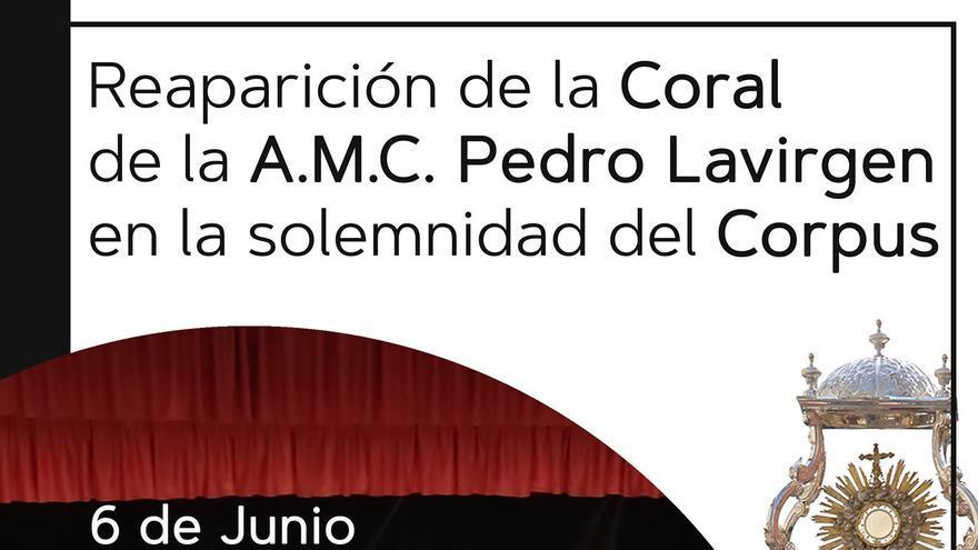 Reparación de la Coral de la A.M.C. Pedro Lavirgen en la solemnidad del Corpus