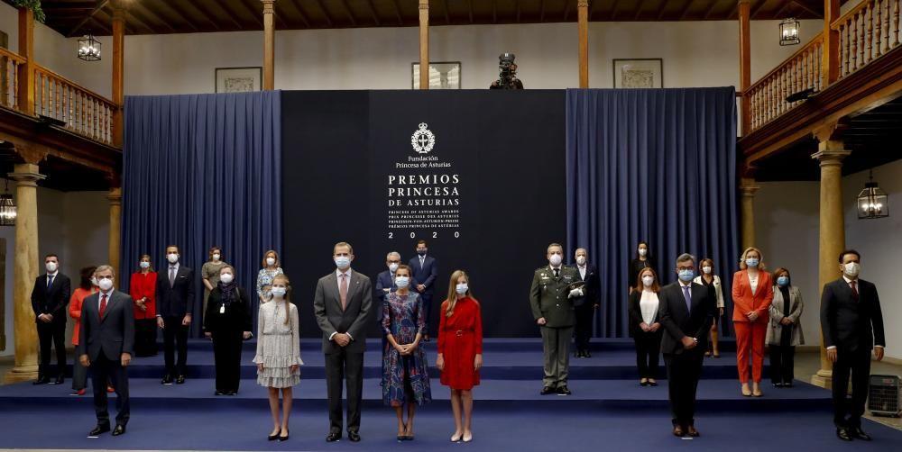 La Familia Real en la audiencia de los Premios