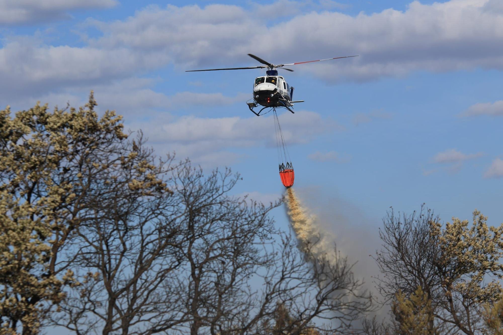 Un fuego afecta a San Vicente de la Cabeza, en Aliste