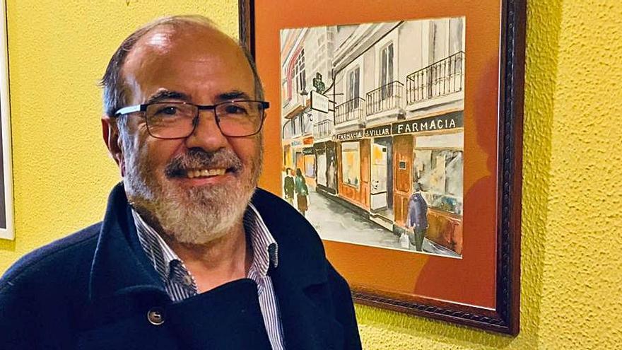 Exposición de acuarelas de A Coruña en el Colegio Médico