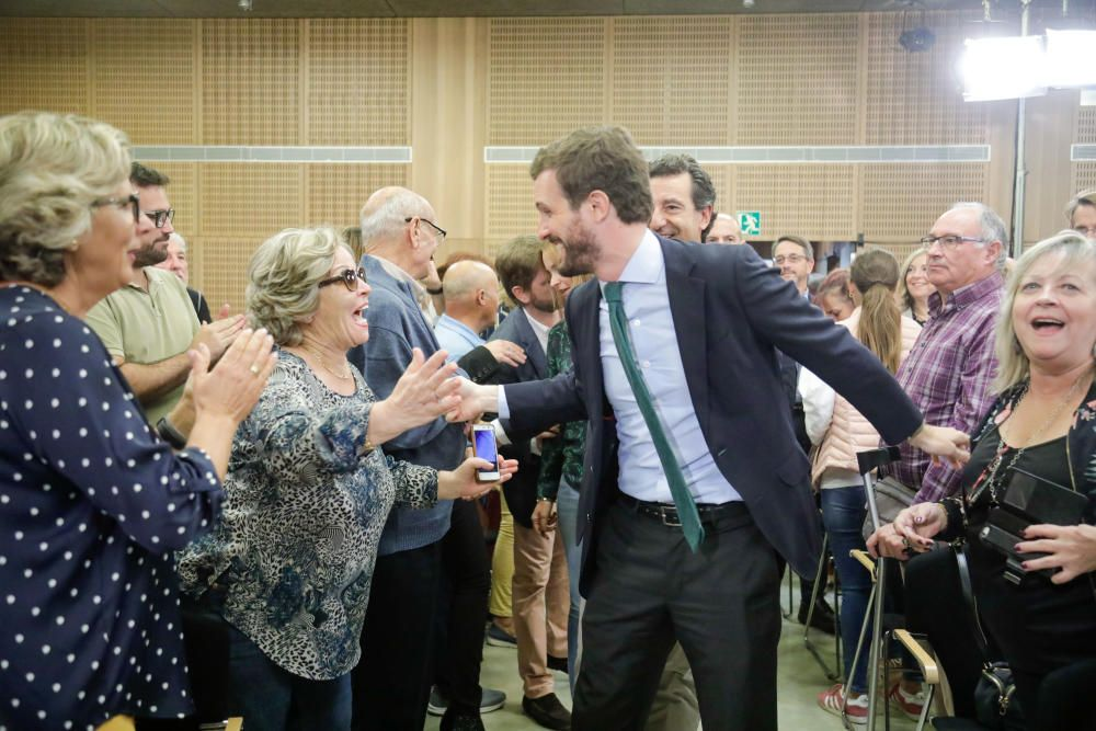 Pablo Casado en su mitin de campaña celebrado en Palma