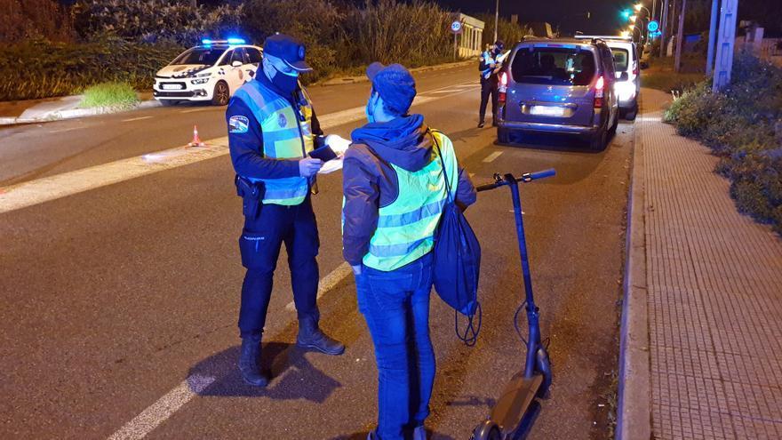 La Policía sanciona cada tres días a un usuario de patinete eléctrico