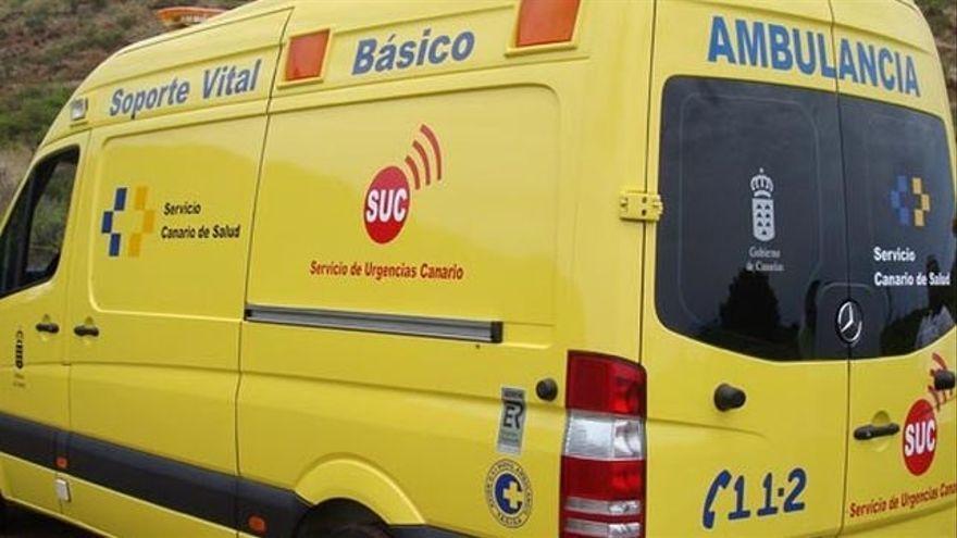 Un ciclista en estado grave tras sufrir una caída en Ingenio