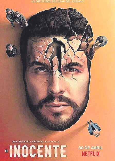 Mario Casas, en el cartel de la serie.