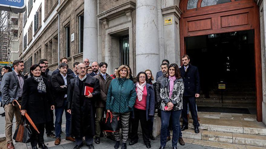 Protesta del Turno de Oficio de Baleares  por el millón que le debe Justicia