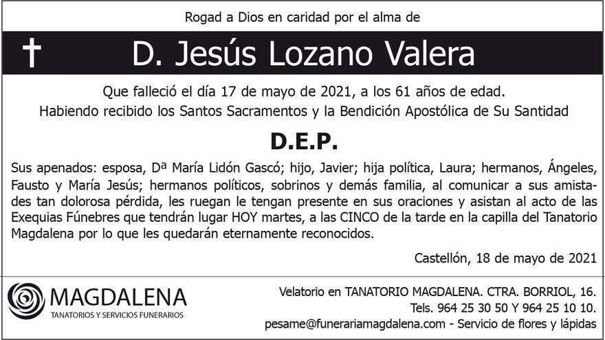 D. Jesús Lozano Valera