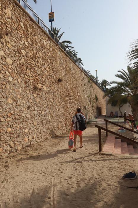 Lugar del paseo de Punta Prima donde se produjo el accidente
