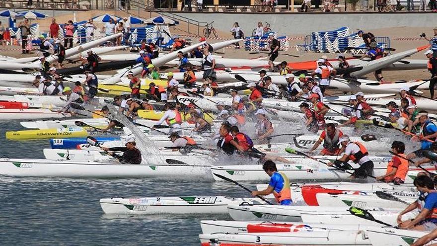 El Club Náutico de La Vila acoge este puente la Copa de España de Kayak de Mar y la X Eurochallenge