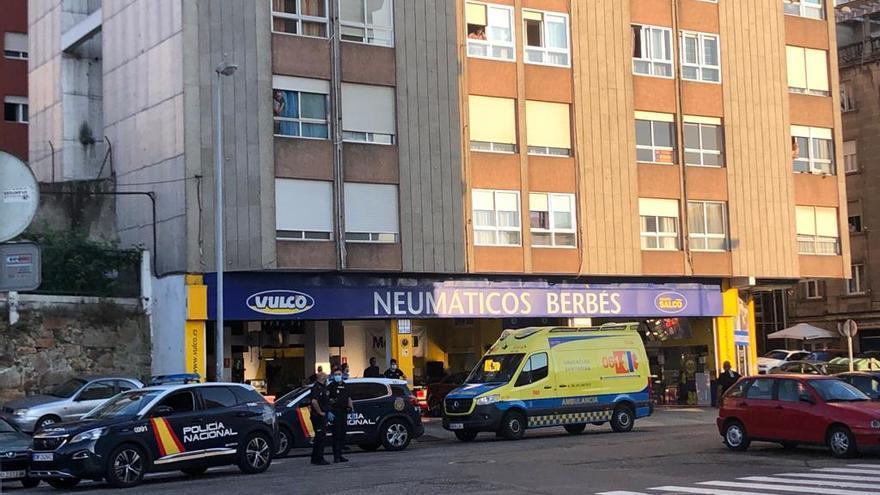Apuñalado con un cúter en Vigo tras una acalorada discusión en plena calle