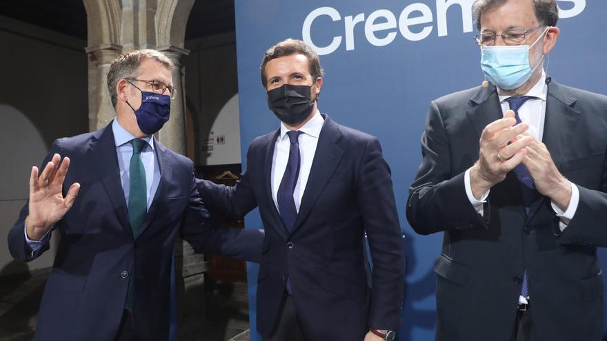 Casado reivindica el legado de Rajoy, que le encomienda la superación de la crisis