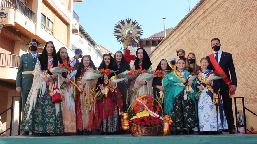 Calanda y Fraga celebran sus ofrendas de flores a distinta escala