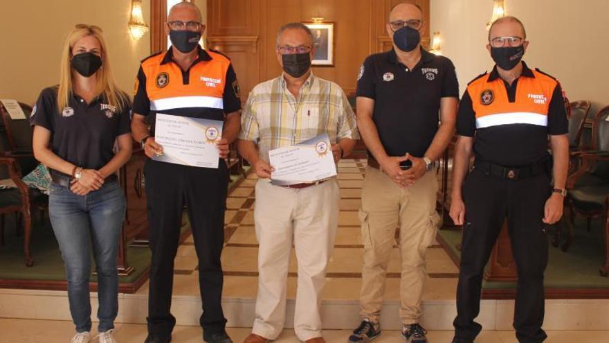 Premian la apuesta por la formación de Protección Civil en Ontinyent