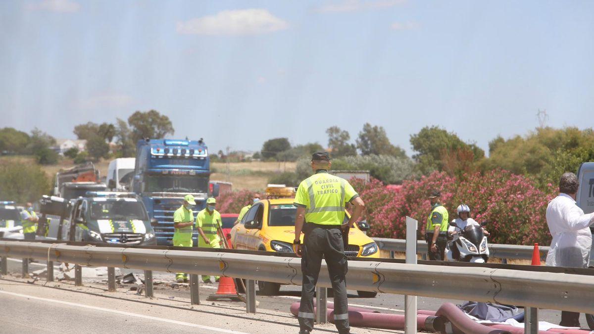 Imagen del lugar del accidente en el que fallecieron cuatro mujeres.