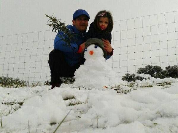 Nieva en la provincia durante el Día de Andalucía