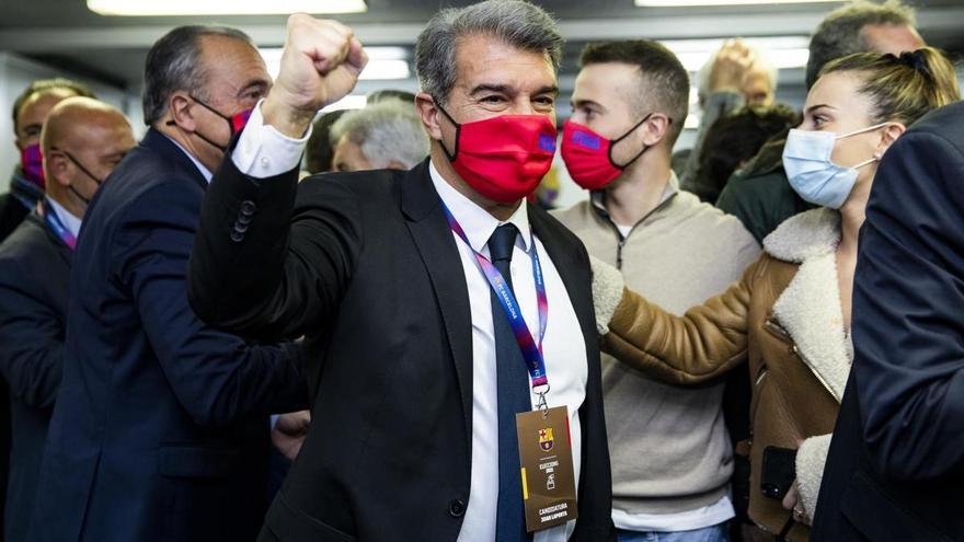 Joan Laporta, nou president del Barça amb Antoni Escudero a la seva junta