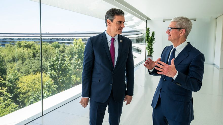 Sánchez promueve en Apple el plan de recuperación económica