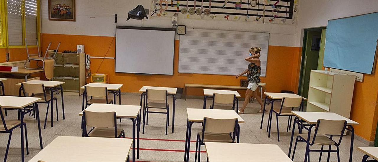 La totalidad de las aulas se han reordenado para establecer las distancias de seguridad.