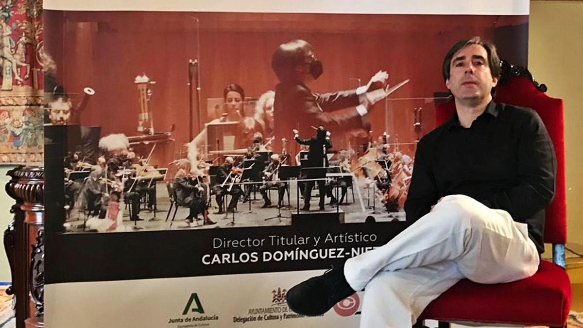 Carlos Domínguez-Nieto se enfrenta a una nueva temporada al frente de la Orquesta de Córdoba.