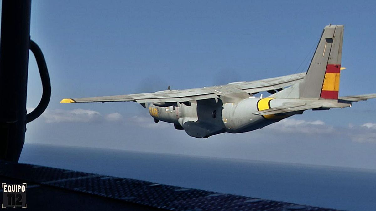 Avión del SAR del Ejército del Aire.