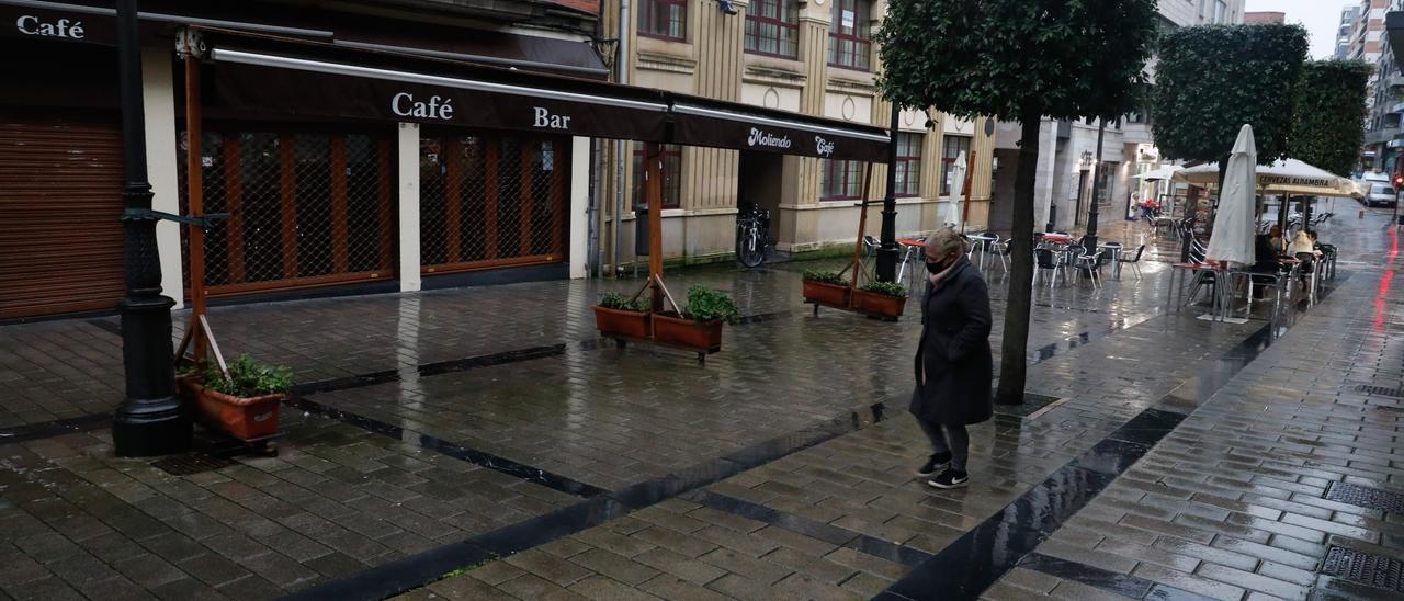 Un negocio cerrado en Avilés.