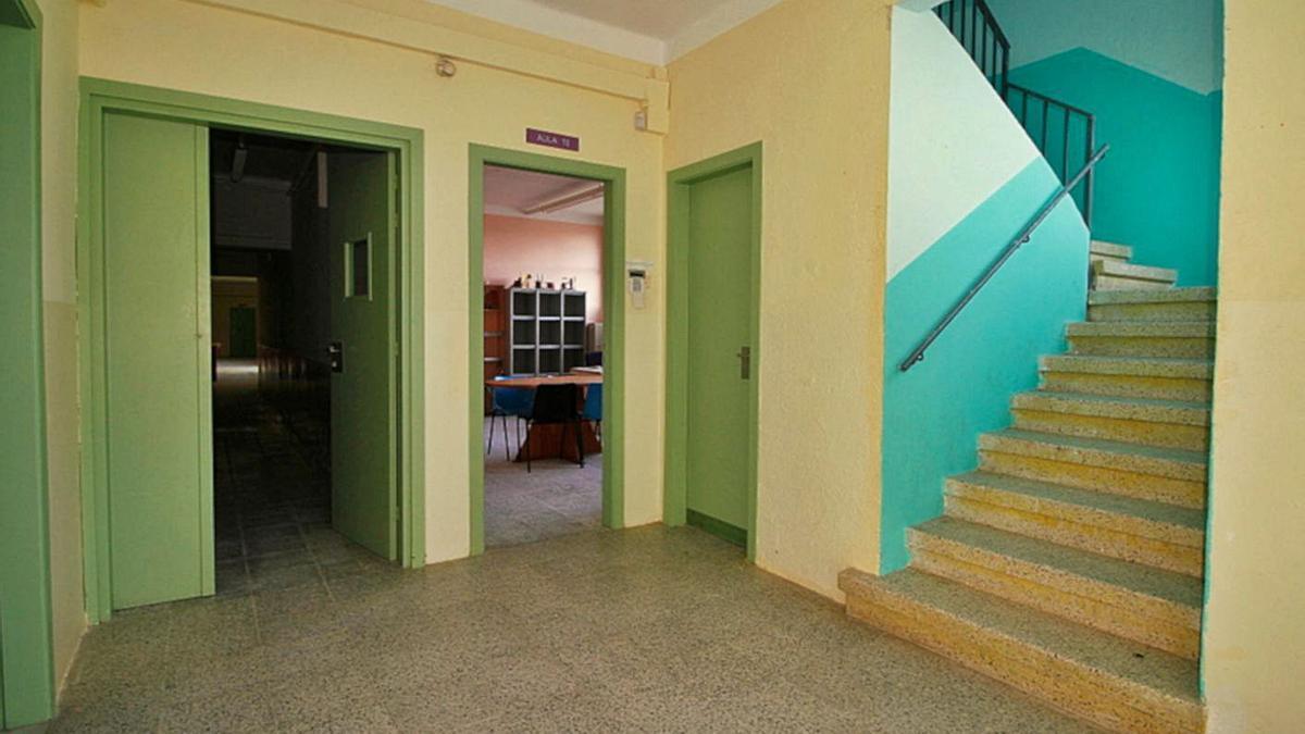 L'interior de l'antiga escola Carles Faus de Blanes.   AJUNTAMENT DE BLANES