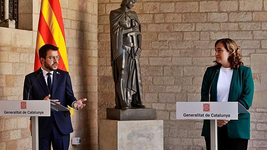 Aragonès i Colau reactiven la comissió bilateral, que es reunirà el 18 de juny