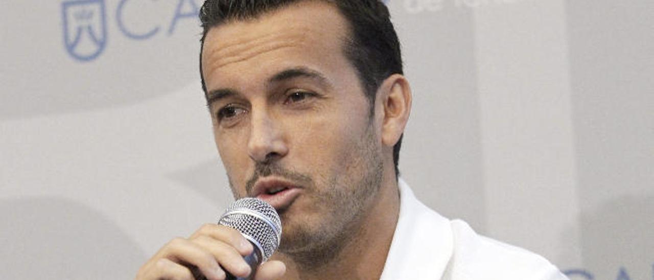 Pedro Rodríguez, este miércoles en Tenerife en un acto de su Fundación.