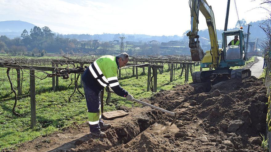 Valga amplía la red de saneamiento a Casaldeirigo, Medela e Ínsua