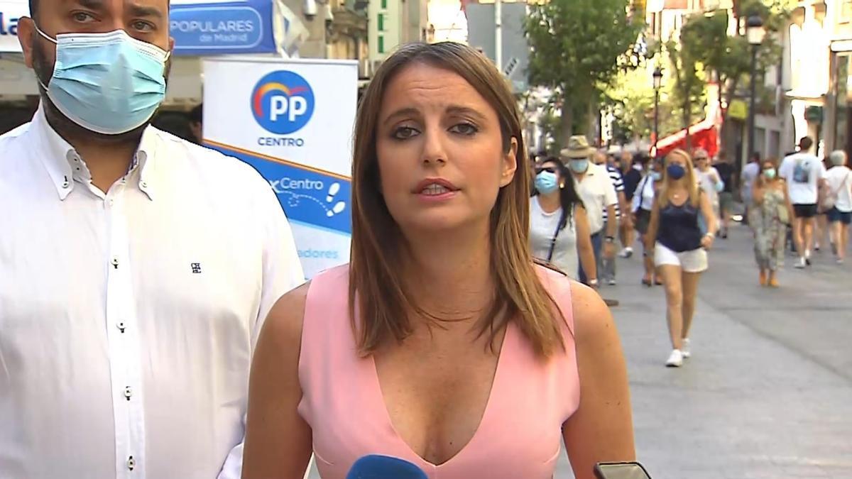 La presidenta del Comité de Derechos y Garantías del PP, Andrea Levy.