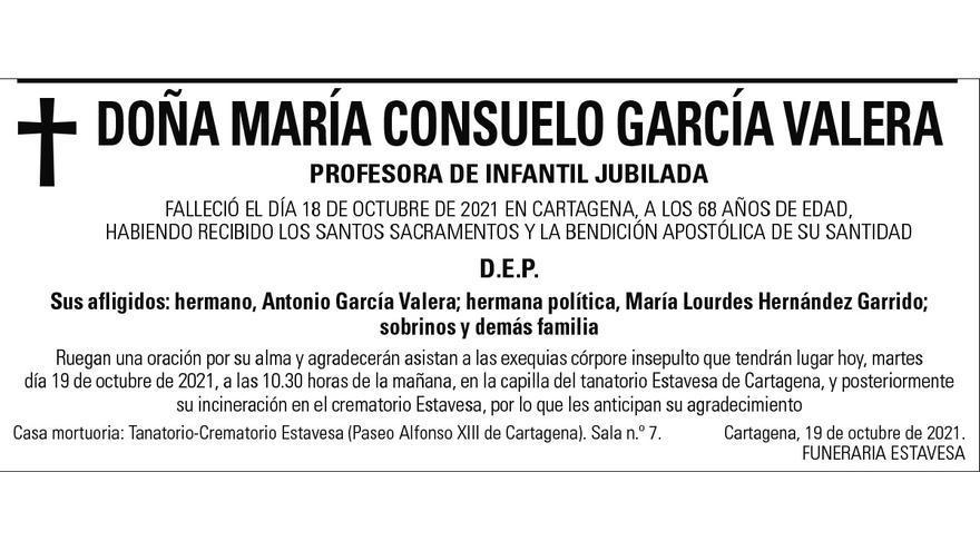 Dª María Consuelo García valera