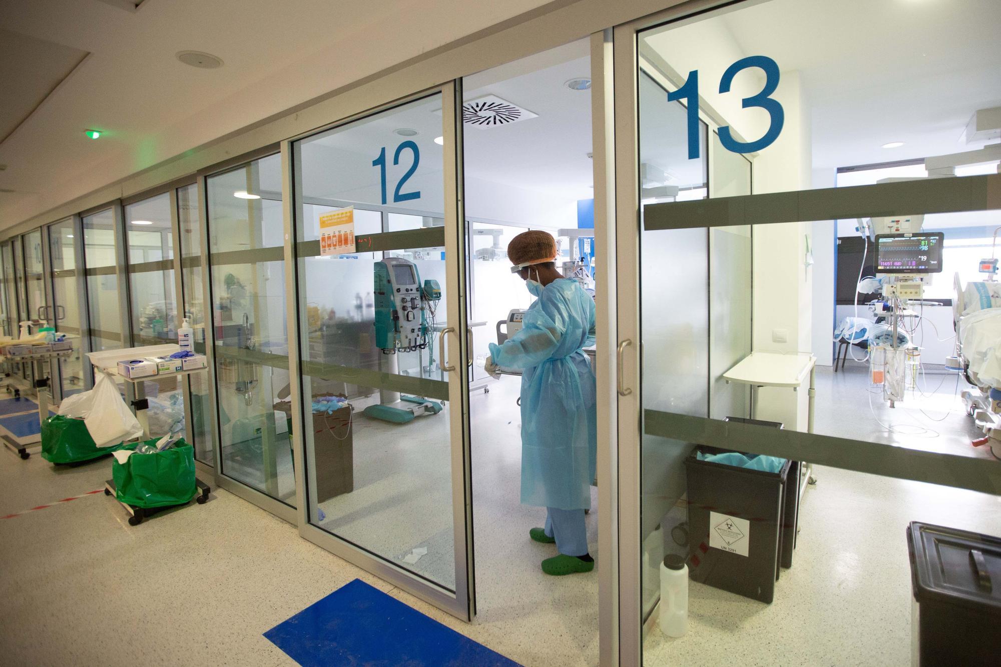 Zona covid: así es el ala norte de la UCI del hospital Can Misses