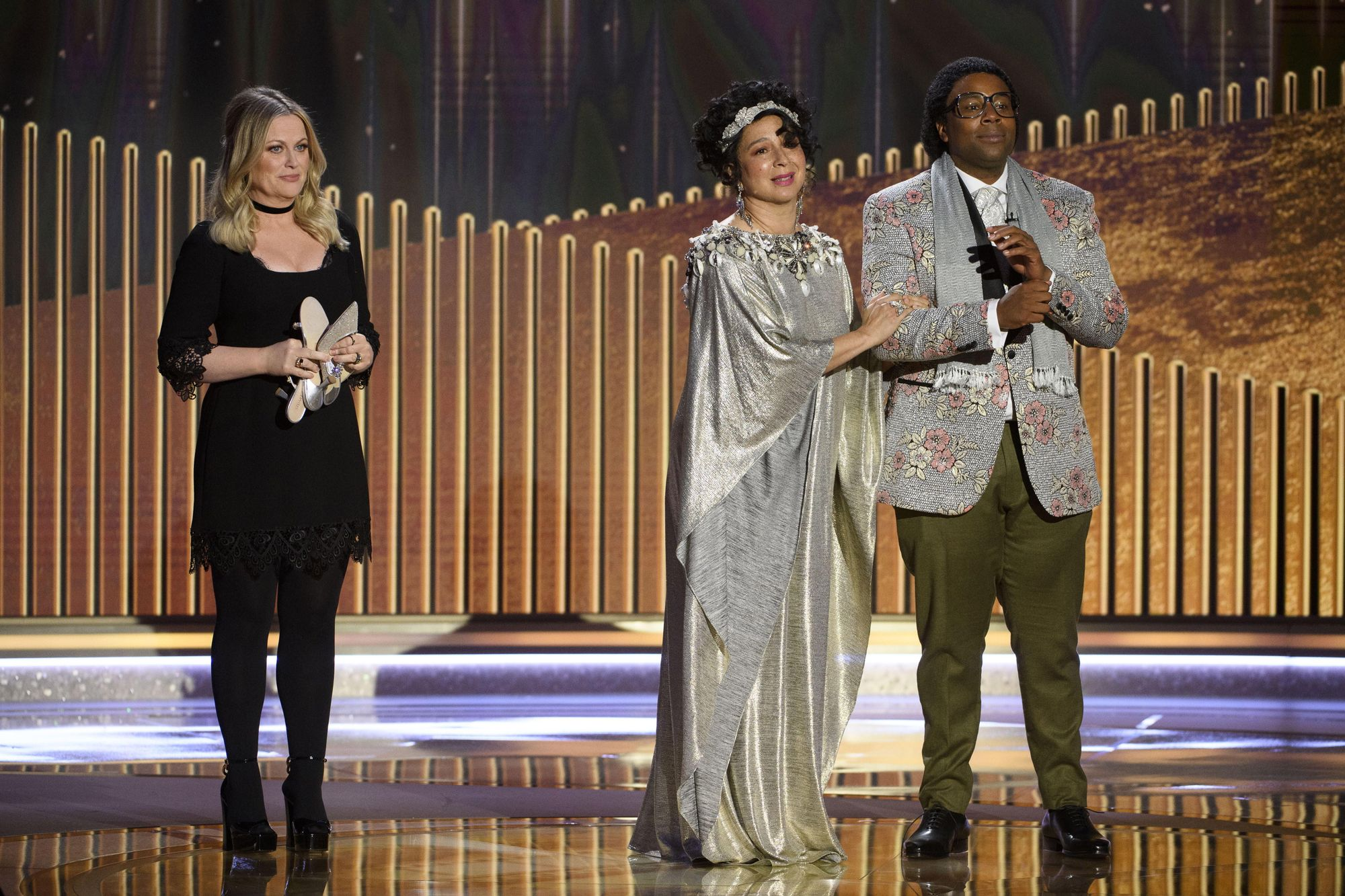 Maya Rudolph and Kenan Thompson.