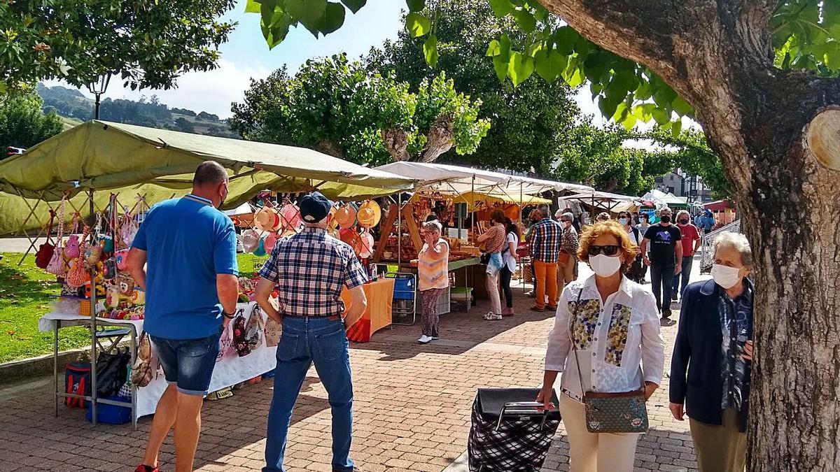 Buena respuesta de público y expositores en la feria de Vegadeo  | T. CASCUDO