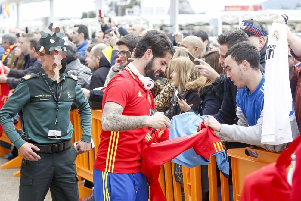 La selección española ya está en Asturias para su partido ante Israel
