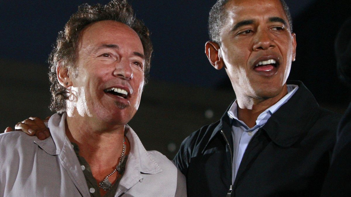 Bruce Springsteen y Barack Obama.