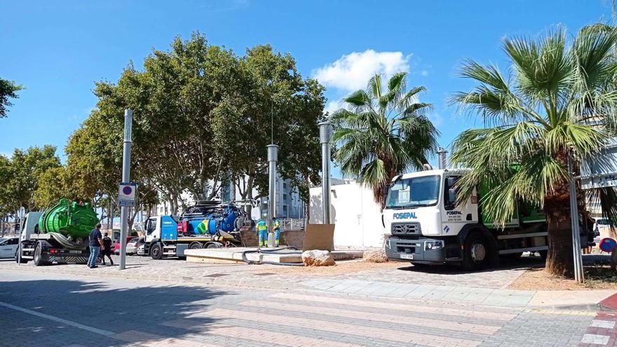 Cuatro  rutas de  Emaya en el paseo Mallorca