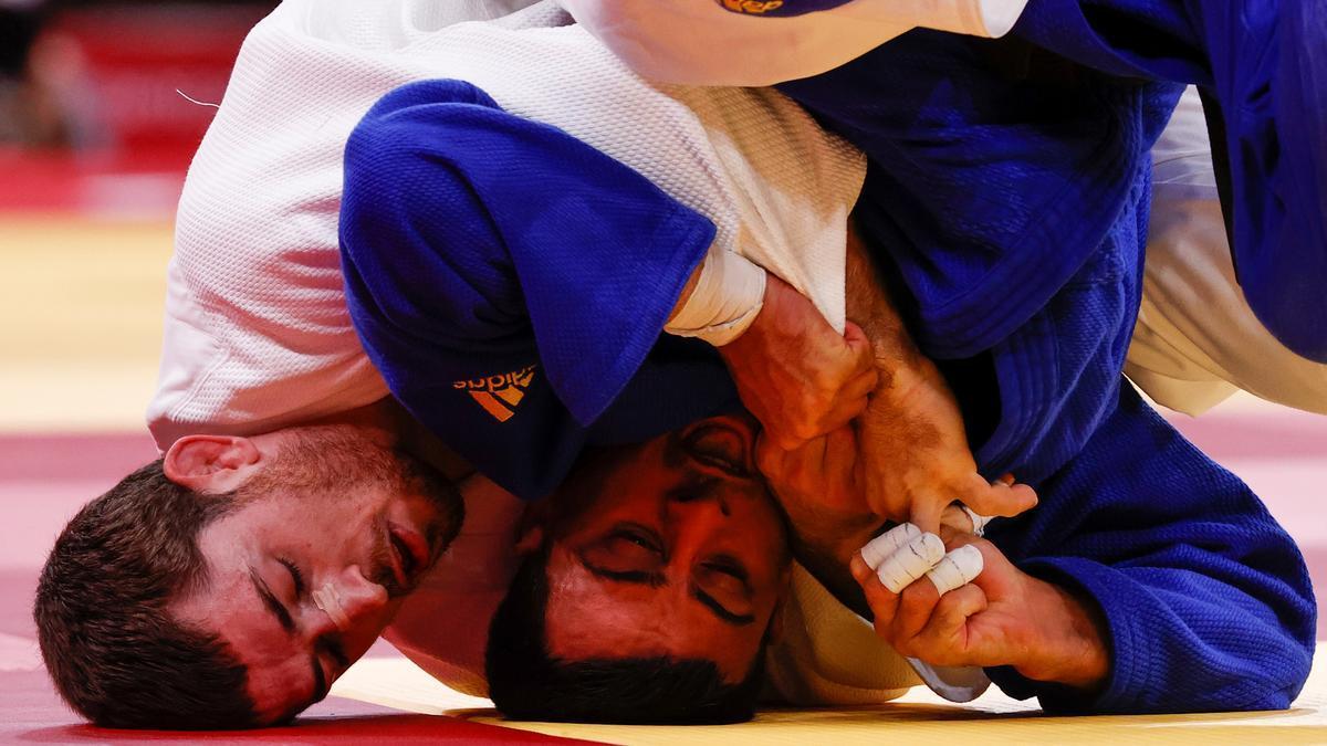 El judoca español Alberto Gaitero, eliminado de los JJOO.