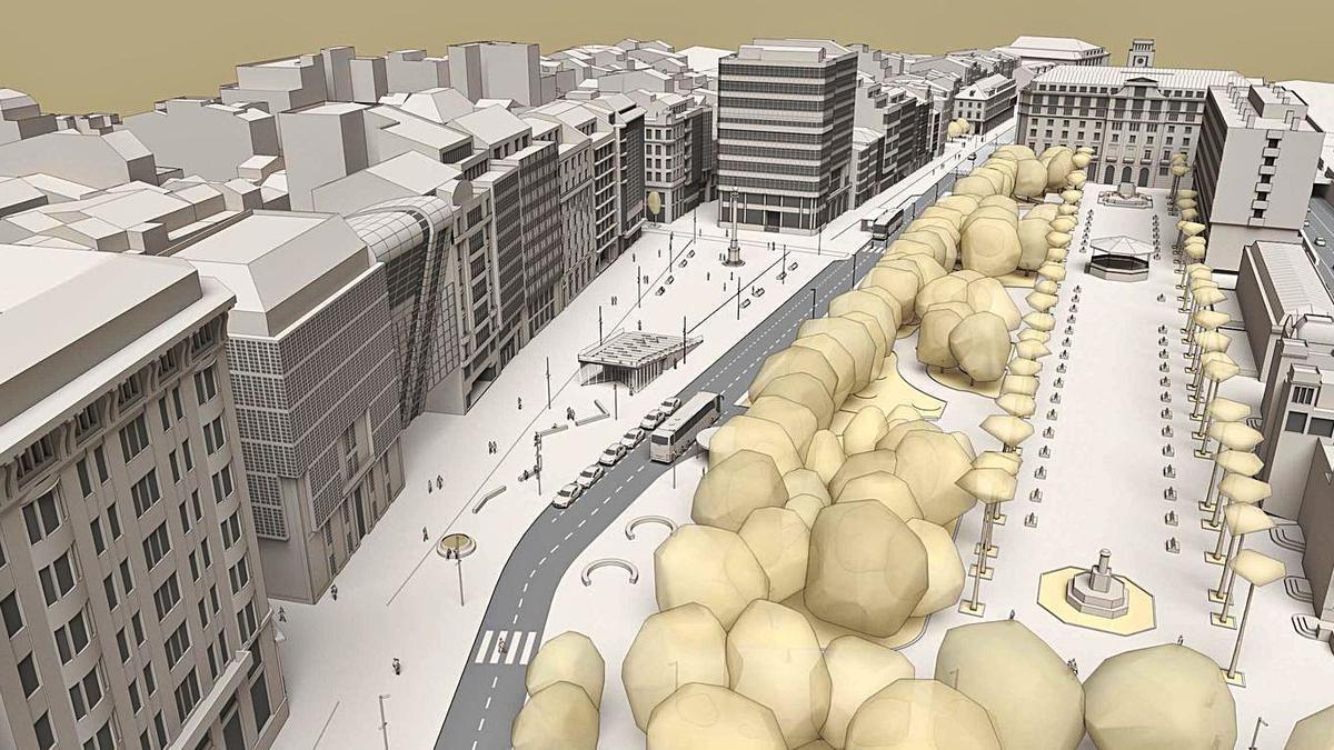Imagen virtual de los Cantones tras la reforma, presentada con los estudios previos.   | // LA OPINIÓN
