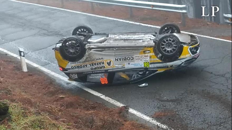 Accidente en el tramo de Artenara del Rally Islas Canarias