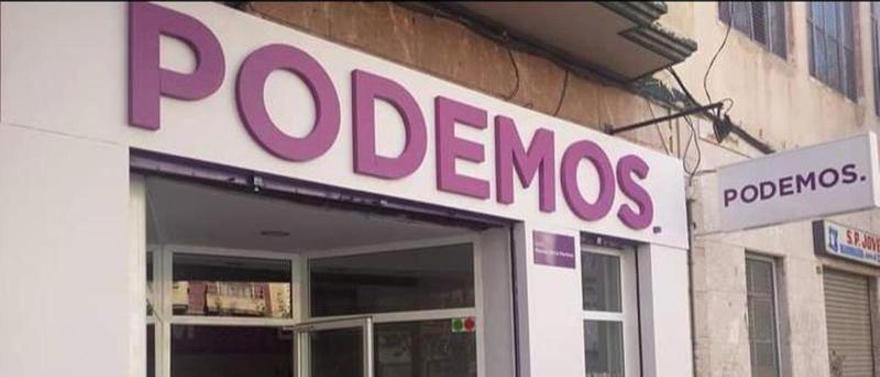 Sede en Elche de Podemos