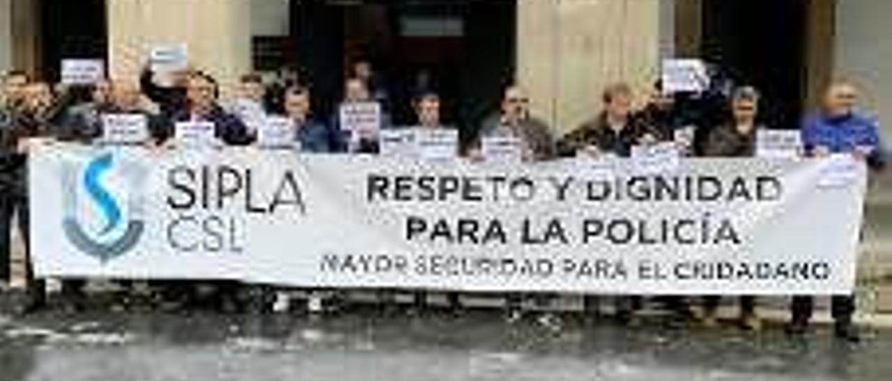 Manifestación del Sipla.