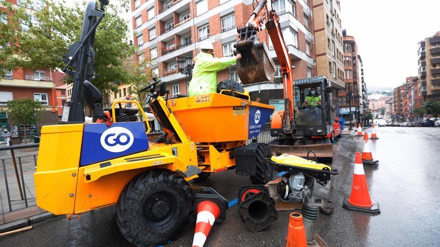 Empieza la mayor inversión de Oviedo en un lustro: el colector del Oeste, da sus primeros pasos