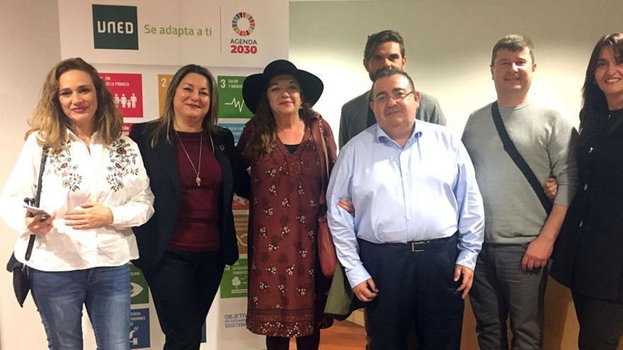 El equipo de la UNED de Dénia recoge en Madrid el premio de igualdad de género