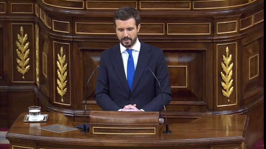"""Casado a Sánchez: """"Pide aquí unidad pero no la tiene dentro"""""""