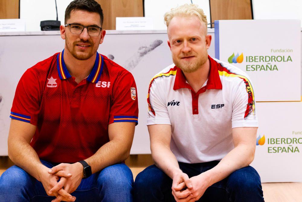 Héctor Cabrera e Iván Cano, atletismo paralímpico