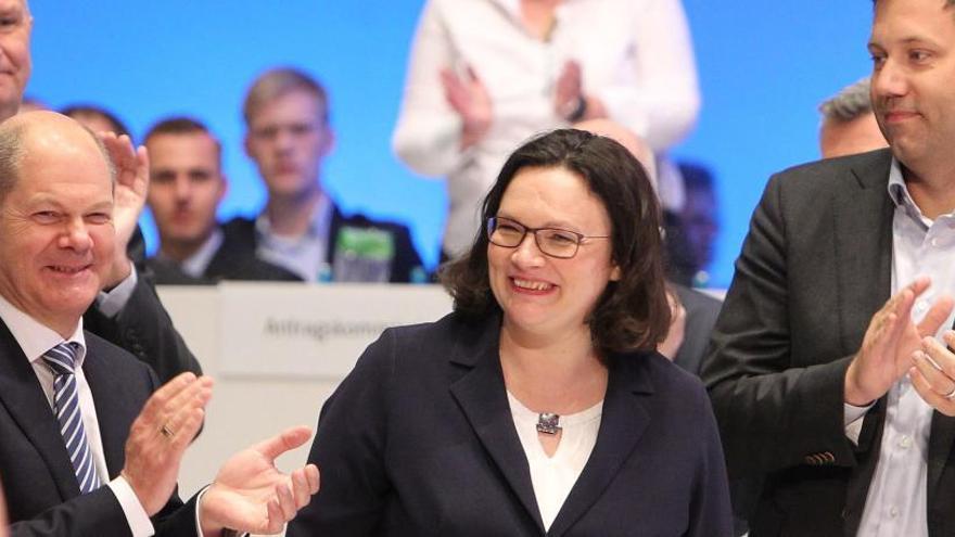 Andrea Nahles, primera mujer que preside el Partido Socialdemócrata alemán